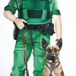 Hund und Herrchen Hundeportrait