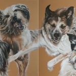 3 Freunde, Doppelbild, gesamt 160 x 60 cm